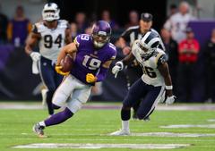 Vikings vs Rams Adam Thielen 65 yard touchdown catch in Week 11