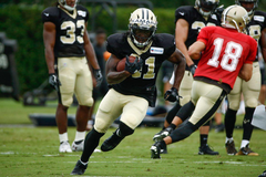 Alvin Kamara is already drawing rave reviews in Saints Training