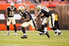 WATCH Saints Running Back Alvin Kamara Busts a 50 Yard Touchdown