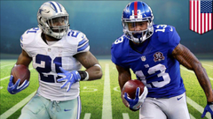 Cowboys vs Giants Dak Prescott Ezekiel Elliott and Odell Beckham