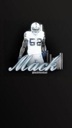 Raiders Khalil Mack iPhone Android Wallpapers by ieditfootball on