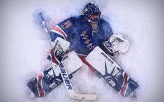 wallpapers Henrik Lundqvist 4k artwork hockey stars New