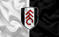 wallpapers Fulham FC silk flag emblem logo 4k Fulham