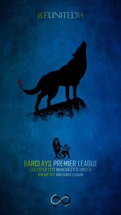 Matchday Poster Leicester City Football Club vs Manchester United