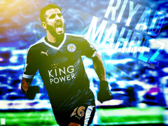 Riyad Mahrez Leicester City FC Effect Wallpaper by izographic on