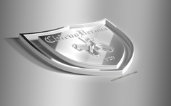 wallpapers Chievo Verona AC ChievoVerona 3D steel logo