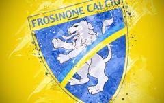 wallpapers Frosinone Calcio 4k paint art creative
