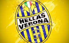 wallpapers Hellas Verona FC 4k paint art creative logo