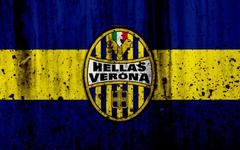 wallpapers FC Hellas Verona 4k logo Serie A stone