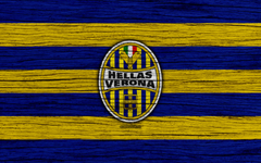 wallpapers Hellas Verona 4k Serie A logo Italy wooden