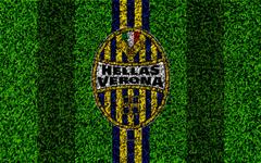 wallpapers Hellas Verona FC 4k logo football lawn