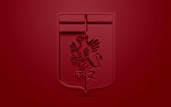 wallpapers Genoa CFC creative 3D logo burgundy backgrounds
