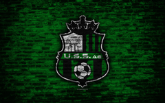 wallpapers Sassuolo FC 4k logo brick wall Serie A