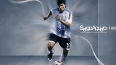 Soccer argentina national football team sergio aguero player