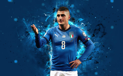 wallpapers 4k Marco Verratti abstract art Italy National