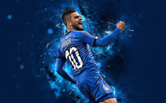wallpapers 4k Lorenzo Insigne abstract art Italy