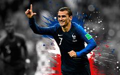 wallpapers Antoine Griezmann 4k France national football