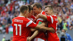 Denis Cheryshev and Aleksandr Golovin inspire five