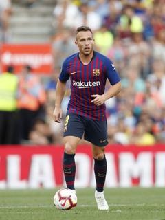 Arthur Henrique Ramos de Oliveira Melo of FC Barcelona during the