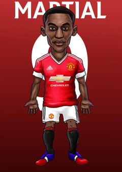 Anthony Martial caricature by kuzim