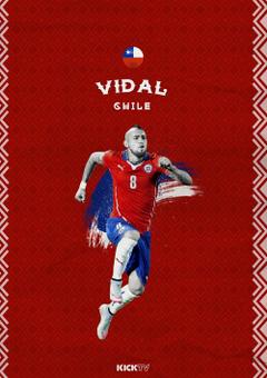 Arturo Vidal of Chile wallpaper