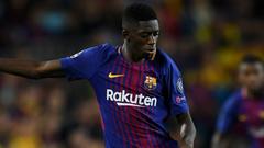Barcelona star Ousmane Dembele off injured early in full LaLiga
