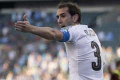 Diego Godin honoured by Uruguayan parliament receives standing