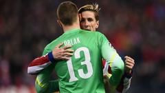 Fernando Torres Jan Oblak Atletico de Madrid Bayer Leverkusen