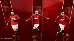 Manchester United Players Wayne Rooney Robin Van Persie And Juan