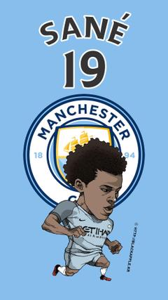 Manchester City No 10 Kun Aguero Fan Art