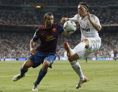 Mesut Ozil Javier Mascherano Real Madrid FC Barcelona Soccer