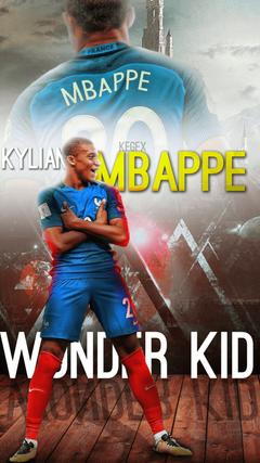 Kylian Mbappe Mobile Wallpapers by NewGenGFX