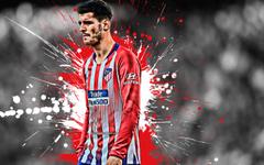 Descargar fondos de pantalla Álvaro Morata 4k español jugador de