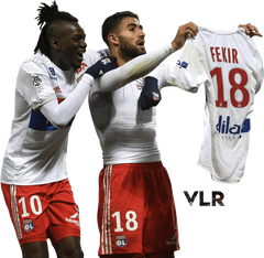 Bertrand Traore and Nabil Fekir by ViveLesRendersFR