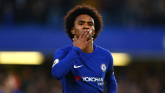 Chelsea 2 Crystal Palace 1 Willian scores again as champions bounce