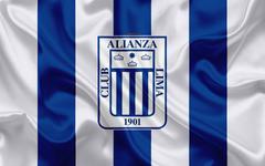 wallpapers Club Alianza Lima 4k logo silk texture