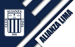 wallpapers Club Alianza Lima 4k logo white blue
