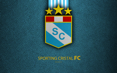 wallpapers Sporting Cristal FC 4k logo leather texture