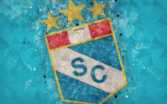 wallpapers Club Sporting Cristal 4k geometric art logo