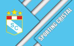wallpapers Sporting Cristal FC 4k logo white blue