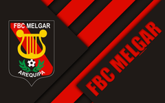 wallpapers FBC Melgar 4k logo black and red abstraction