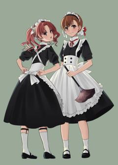 Brown Hair Anime Girl Maid Outfit animenimania blogspot