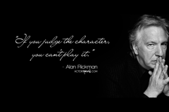 WALLPAPER Alan Rickman quote on acting with photo