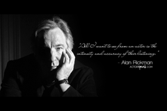 WALLPAPER Alan Rickman Acting Quote With Photo