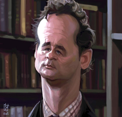 artistic bill murray artwork caricature wallpapers and backgrounds