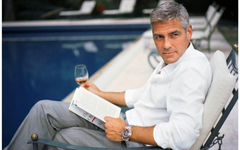 George Clooney Drinking Whisky Wallpapers