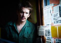 Photos Men Newspaper Ethan Hawke The Bartender Predestination Movies