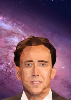 nicolas cage space photoshopped adobe photoshop face triangle