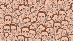 Creepy WTF funny head disturbing Nicolas Cage wallpapers