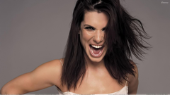 Sandra Bullock Laughing And Grey Backgrounds Wallpapers